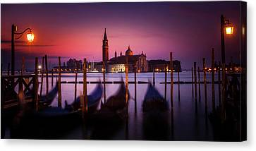 Canvas Print featuring the photograph St. Marks Panorama by Andrew Soundarajan