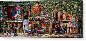 East Village Canvas Print - St Marks Place by Chris Lord