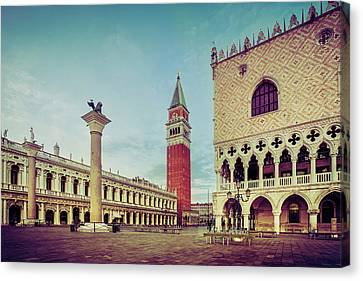 St. Mark's Square Canvas Print by Andrew Soundarajan