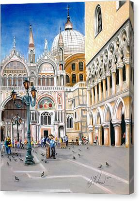 St. Marks Square Canvas Print by Leah Wiedemer