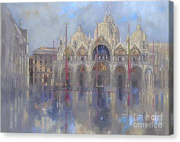 St Mark's -venice Canvas Print by Peter Miller