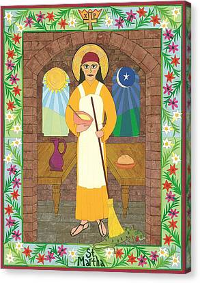 St. Martha Icon Canvas Print by David Raber