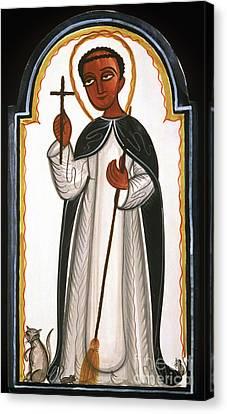 Christian Sacred Canvas Print - St. Martin Of Porres - Aomap by Br Arturo Olivas OFS