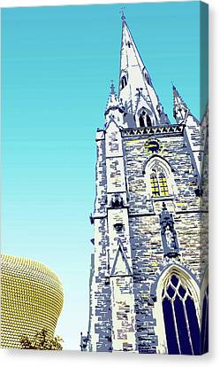St Martins And Selfridges Canvas Print