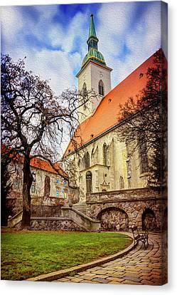 Historic Architecture Canvas Print - St Martins Cathedral Bratislava by Carol Japp