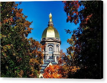 St Mary Atop The Golden Dome Of Notre Dame Canvas Print by Mountain Dreams