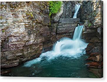 Canvas Print featuring the photograph St. Mary Falls by Gary Lengyel