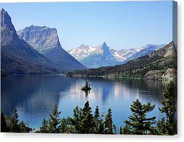 Mountain Canvas Print - St Mary Lake - Glacier National Park Mt by Christine Till