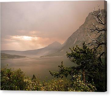 St Mary Lake In The Smoke Canvas Print