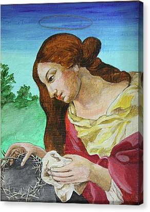 St. Mary Magdalene Mourning Canvas Print by Jan Mecklenburg