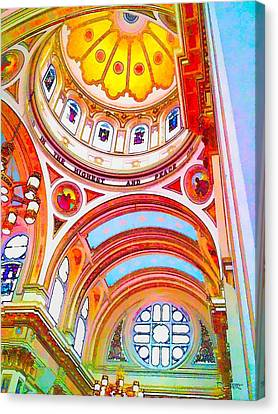 St. Mary Of The Angels 1 Canvas Print by Dave Luebbert