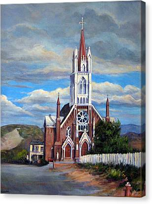 Canvas Print featuring the painting St. Mary Of The Mountains by Donna Tucker