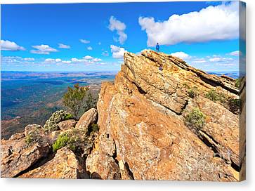 Canvas Print featuring the photograph St Mary Peak by Bill  Robinson