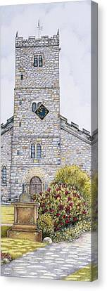 St Mary's Church Clock  Kirkby Lonsdale  Cumbria Canvas Print by Sandra Moore