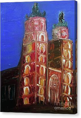 Canvas Print featuring the painting St. Mary's Church Kosciol Marjacki by Ania M Milo
