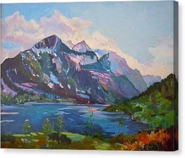 St. Marys Lake Glacier National Park Canvas Print
