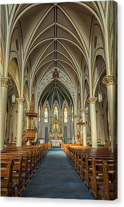 St Mary's Painted Church Canvas Print