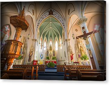 Crucifix Art Canvas Print - St Mary's Sanctuary by Stephen Stookey