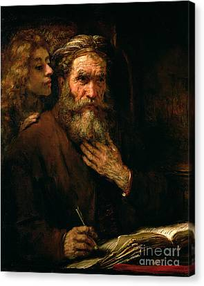 St Matthew And The Angel Canvas Print