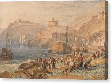 St Mawes Cornwall Canvas Print by Joseph Mallord William Turner