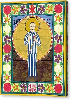 St Maximilian Kolbe Icon Canvas Print by David Raber