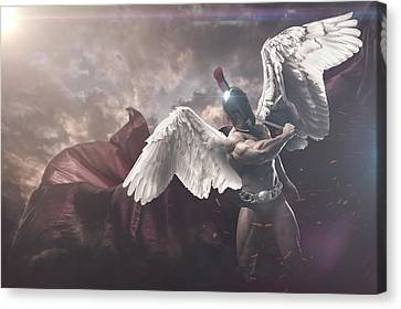 Canvas Print - St Michael The Archangel  by Marcin and Dawid Witukiewicz