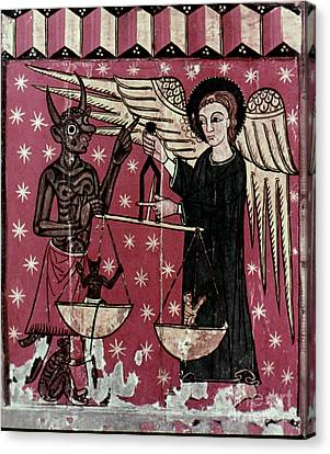 St. Michael Weighing Souls Canvas Print by Granger