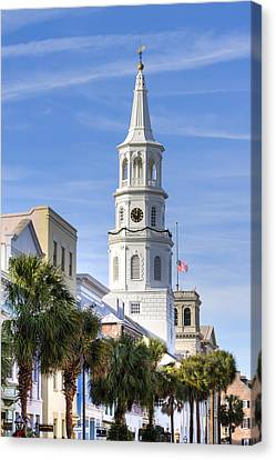 St Michaels Church Charleston Sc 3 Canvas Print by Dustin K Ryan