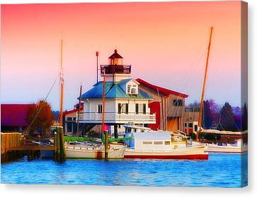 St. Michael's Lighthouse Canvas Print by Bill Cannon