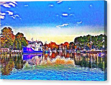 St. Michael's Marina Canvas Print by Bill Cannon