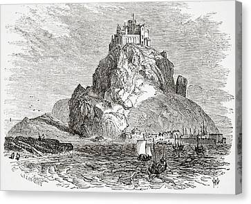 St Michaels Mount Cornwall England From Canvas Print by Vintage Design Pics