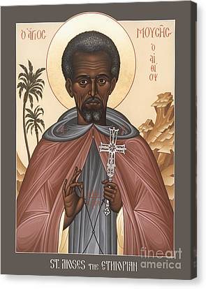 St Moses The Ethiopian Canvas Print - St. Moses The Ethiopian - Rlmte by Br Robert Lentz OFM