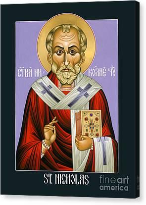 St. Nicholas, Wonderworker - Lwnww Canvas Print by Lewis Williams OFS