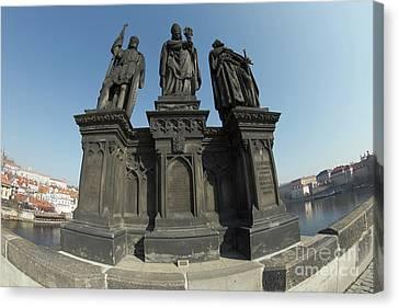 St. Norbert, Wenceslas And Sigismund Canvas Print by Michal Boubin