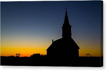 St Olaf Silhouette  Canvas Print by Stephen Stookey