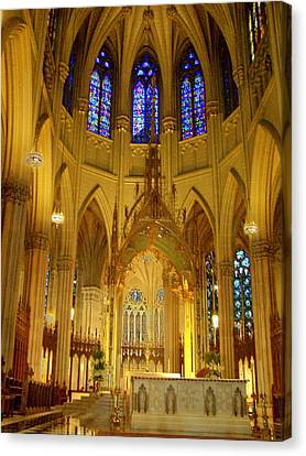 St Patricks Cathedral New York Canvas Print by Vijay Sharon Govender