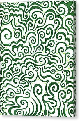 St Patrick's Day Abstract Canvas Print by Mandy Shupp