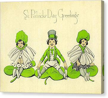 St Patricks Day Greetings Canvas Print