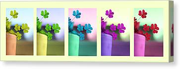 St Patrick's Day Rainbow Canvas Print