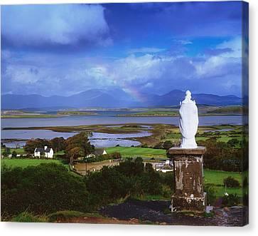 St Patricks Statue, Co Mayo, Ireland Canvas Print