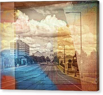 Canvas Print featuring the photograph St. Paul Capital Building by Susan Stone