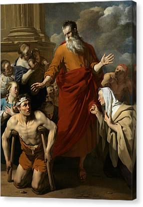 St Paul Healing The Cripple At Lystra Canvas Print