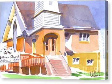 St. Paul Lutheran Ironton Missouri Canvas Print by Kip DeVore