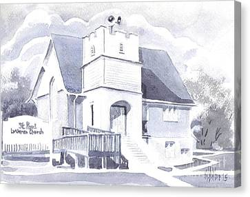 St. Paul Lutheran Church 2 Canvas Print by Kip DeVore