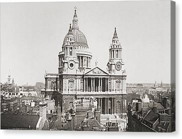 St. Paul S Cathedral, London, England Canvas Print