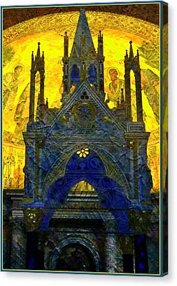 St. Pauls Basilica In Rome Canvas Print by Mindy Newman