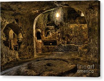 St. Paul's Catacombs In Malta Canvas Print by Stephan Grixti