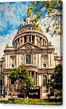 Saint Christopher Canvas Print - St Paul's Cathederal by John K Woodruff
