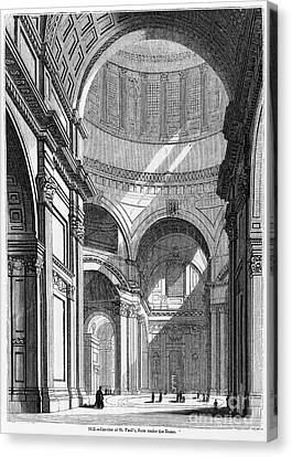 St. Pauls Cathedral, 19th Century Canvas Print by Middle Temple Library