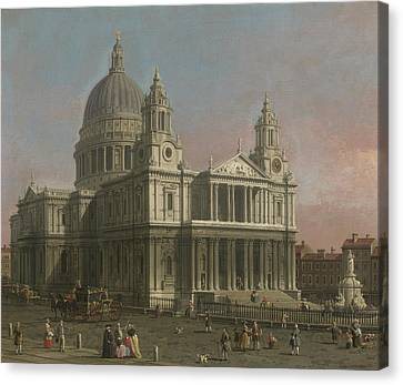St. Paul's Cathedral Canvas Print by Giovanni Antonio Canaletto